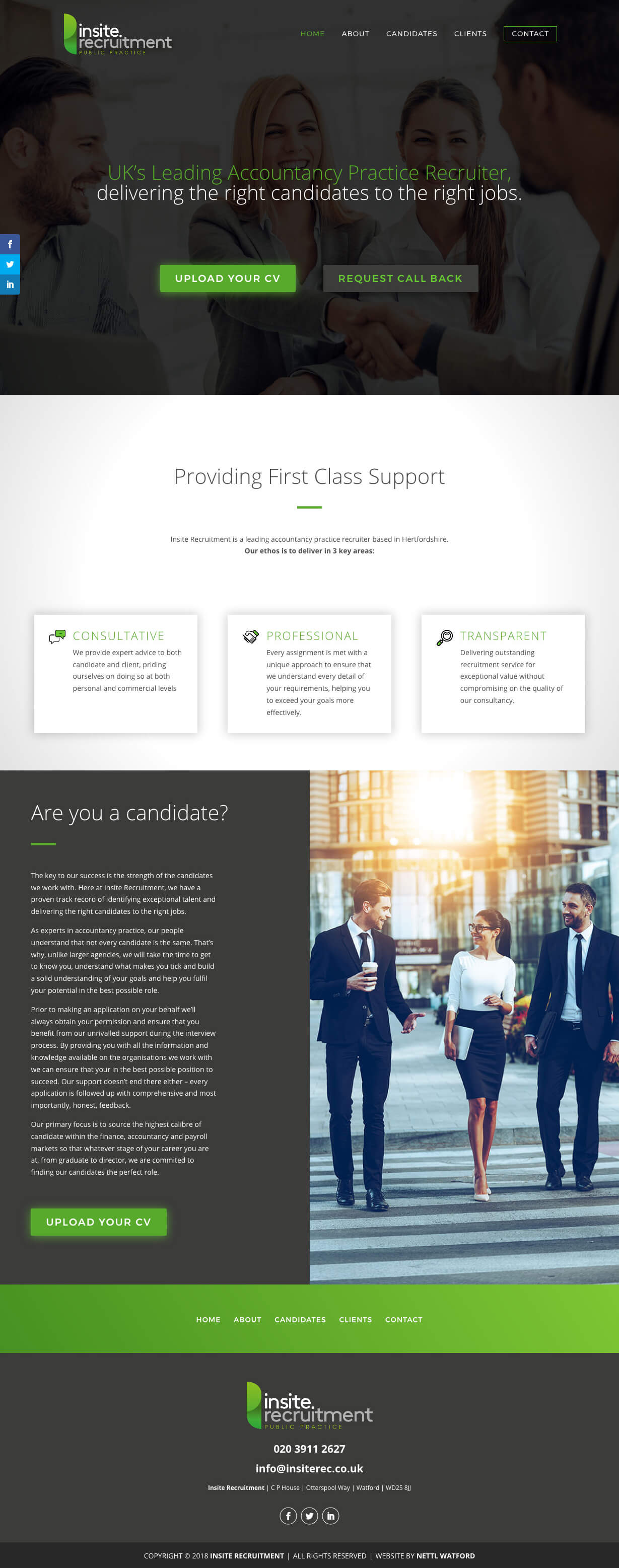 Insite-Recruitment-Website-Screenshot
