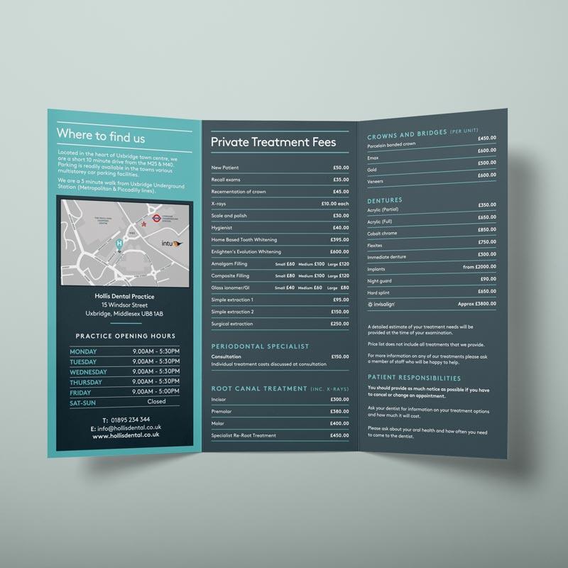 Gloss Folded Leaflet Printing